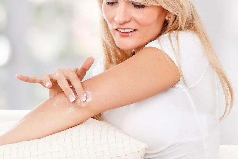 applying cream to skin for faster healing