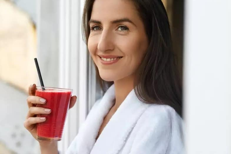 drinking beetroot juice for skin